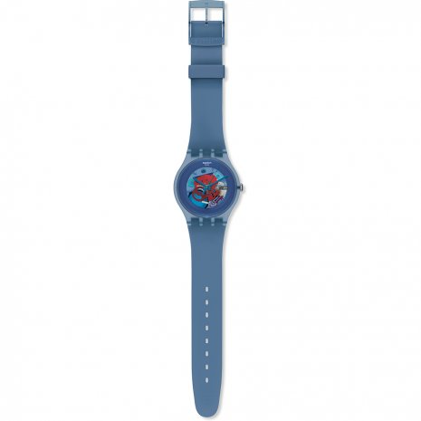 Swatch Blue Grey Lacquered horloge