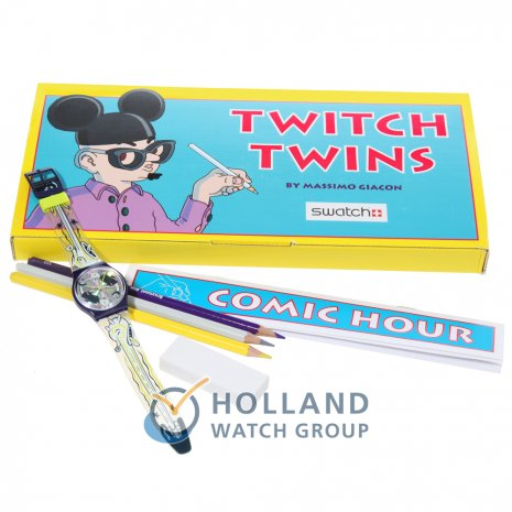 Swatch Comic Hour Drawing Set (Twitch Twins) horloge