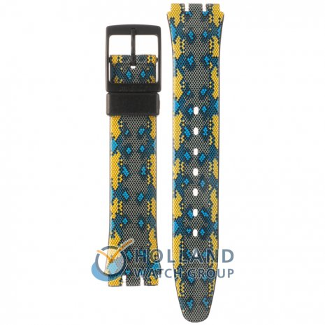 Swatch GB254 Snaky Blue Horlogeband