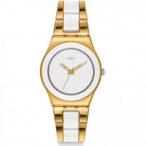 Swatch Yellow Pearl horloge